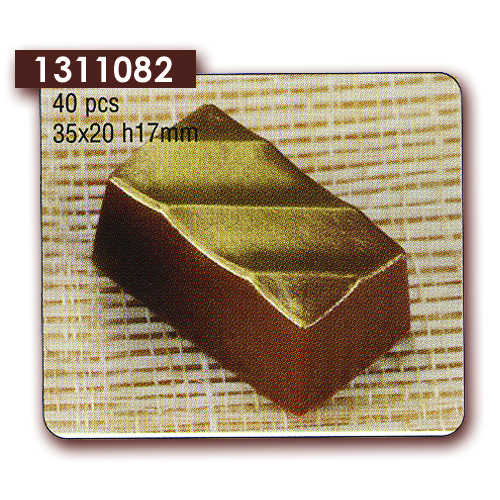 Polycarbonaat Bonbon Chocoladevorm: Rechthoek Diagonale Streep