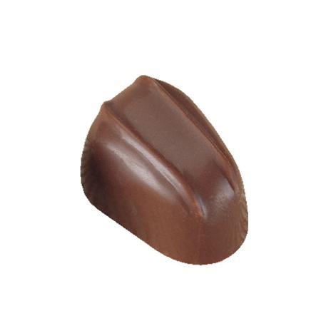 Polycarbonaat Bonbon Chocoladevorm: Ovaal met 2 Strepen