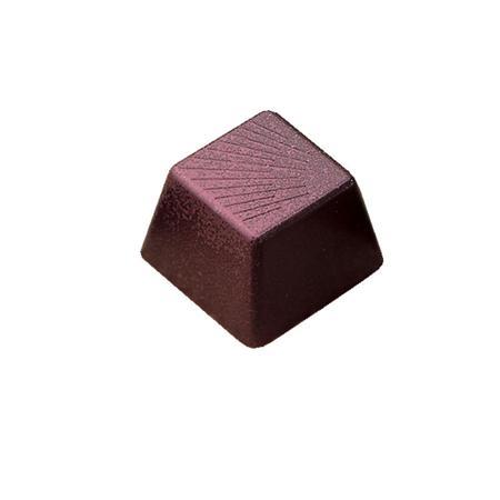 Polycarbonaat Bonbon Chocoladevorm: Vierkant met schuine streepjes