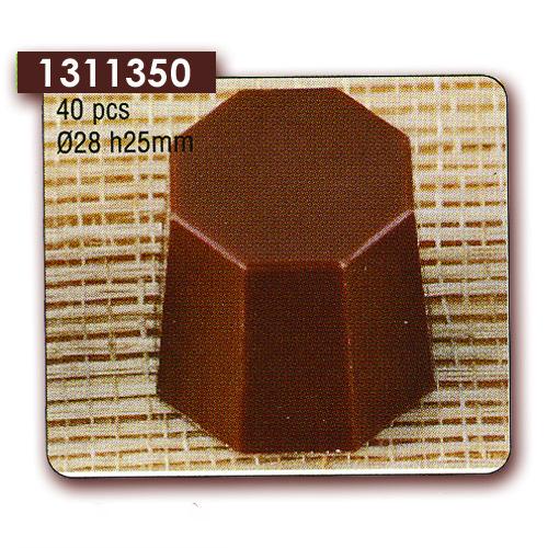 Polycarbonaat Bonbon Chocoladevorm: Achthoek
