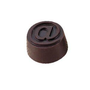 Polycarbonaat Bonbon Chocoladevorm: Rond Apenstaartje
