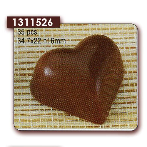 Polycarbonaat Bonbon Chocoladevorm: Hart Glad