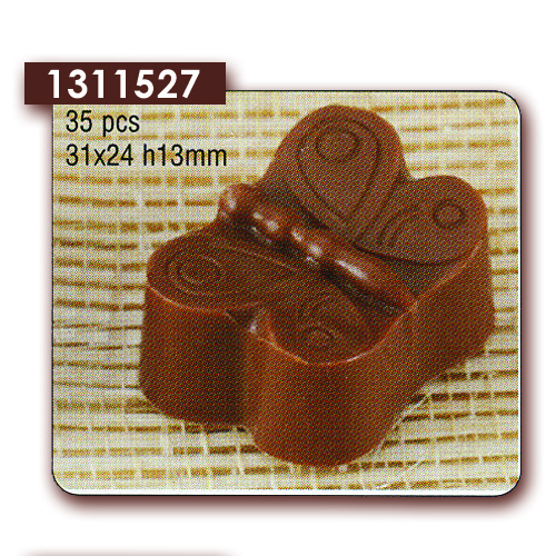 Polycarbonaat Bonbon Chocoladevorm Vlinder