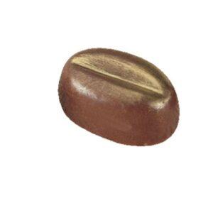 Polycarbonaat Bonbon Chocoladevorm: Mokka / Koffie boon