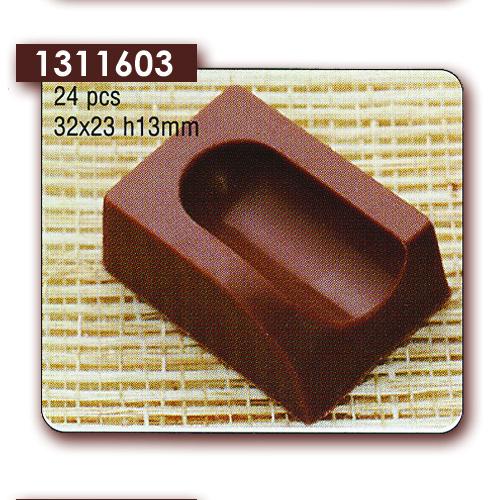 Polycarbonaat Bonbon Chocoladevorm: Rechthoek met Uitkeping