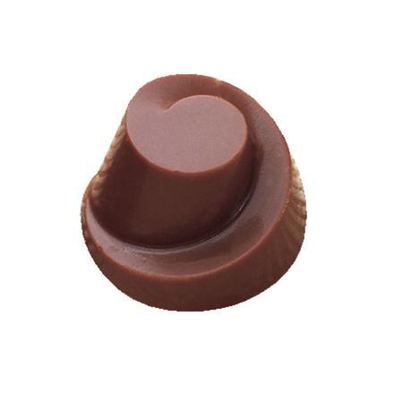 Polycarbonaat Bonbon Chocoladevorm: Rond Toren met Swirl