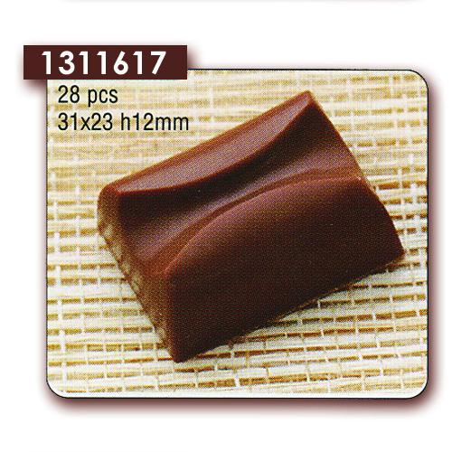 Polycarbonaat Bonbon Chocoladevorm: Rechthoek met Uitholling