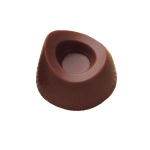 Polycarbonaat Bonbon Chocoladevorm: Rond asymmetrisch met rand