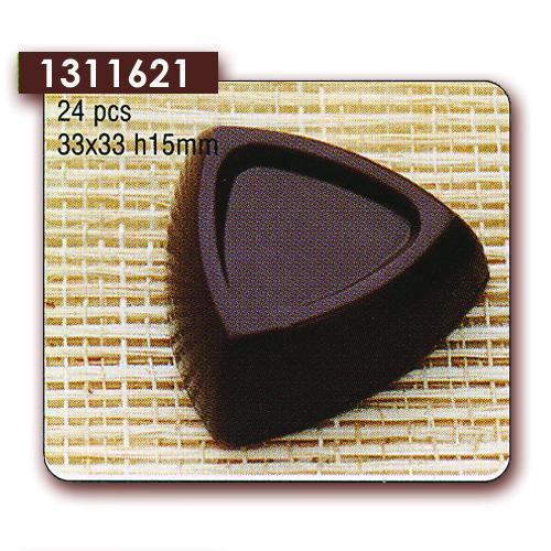 Polycarbonaat Bonbon Chocoladevorm: Driehoek met rand
