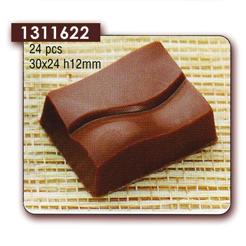 Polycarbonaat Bonbon Chocoladevorm: Rechthoek Envelop