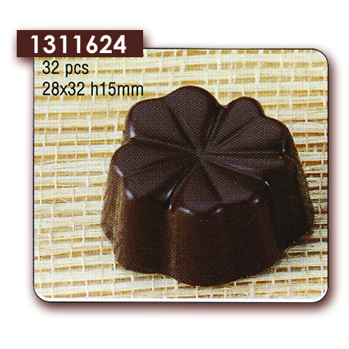 Polycarbonaat Bonbon Chocoladevorm: Klavertje vier