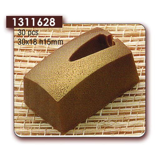 Polycarbonaat Bonbon Chocoladevorm: Rechthoek met inkeping