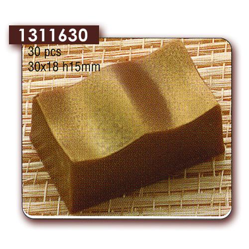 Polycarbonaat Bonbon Chocoladevorm: Rechthoek Golvend