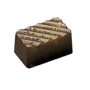 Polycarbonaat Bonbon Chocoladevorm: Rechthoek met diagonaal reliëf