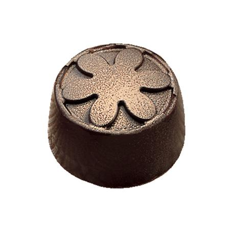 Polycarbonaat Bonbon Chocoladevorm: Rond met Bloem