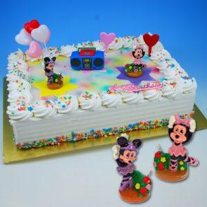 Ballerina Minnie - Taart Decoratie Set