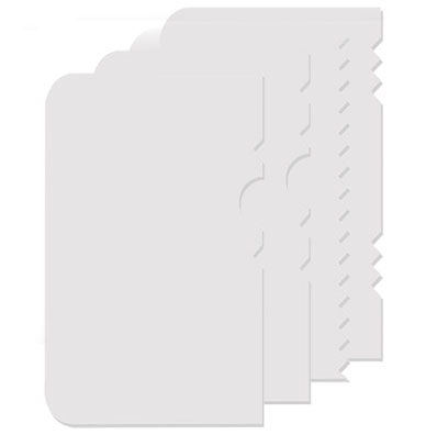 Structuur Krabber Setje - kunststof - 4 Stuks/Setje