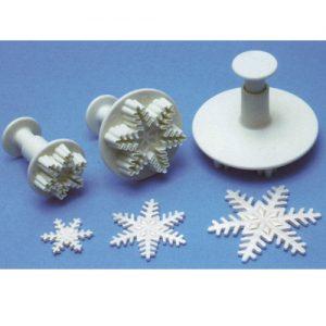 item # 84708 - 3 Delige Sneeuwvlokjes-Uitdrukker Set