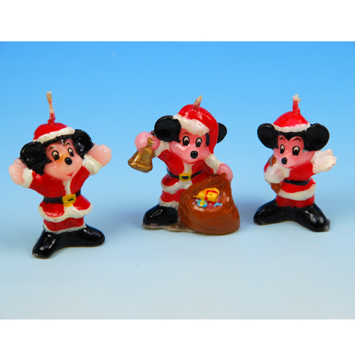 Kerstman Mickey Mouse - Kaarsjes - 36 st/ds