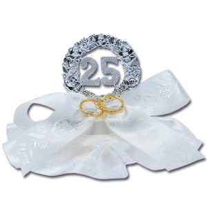 """Jubileum Ornament met Medaille: """"25"""" Zilver"""