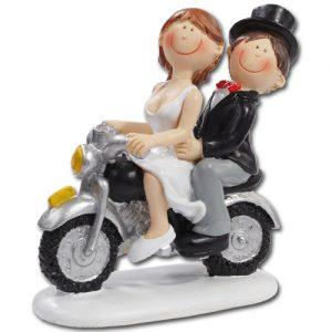 Medium Bruidspaartje: op Motor