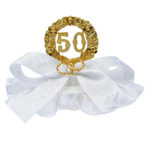 Jubileum Ornament met Medaille: 50 Goud