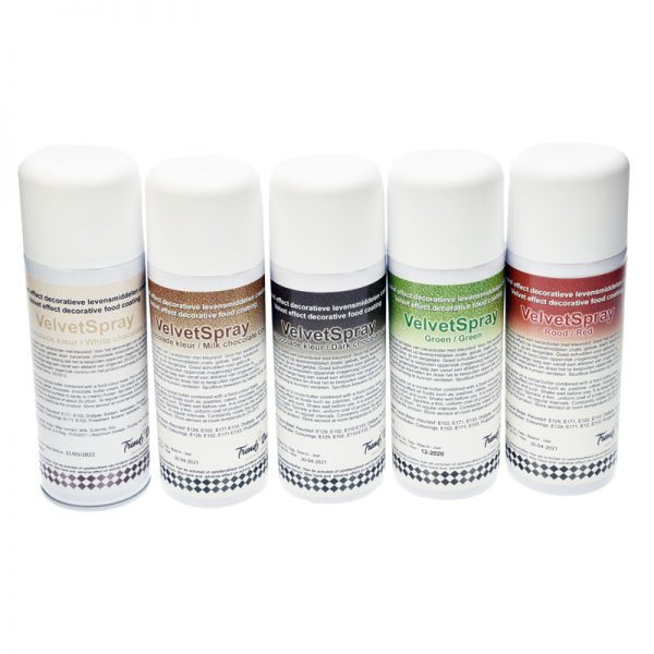 Voedingskleurstof VelvetSpray - in diverse kleuren leverbaar