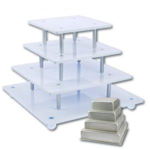 Stapel standaard Vierkant - 4 Etages