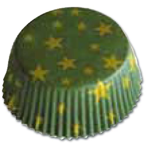 CupCake Caisses (Bakpapiertjes) - Sterren Groen