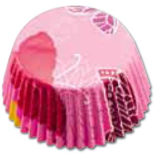 CupCake Caisses (Bakpapiertjes) - Vlinder Roze