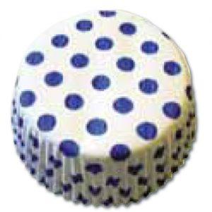 CupCake Caisses (Bakpapiertjes) - Wit met Blauwe Stippen