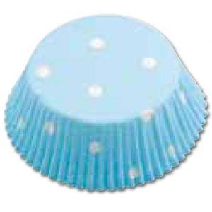 CupCake Caisses (Bakpapiertjes) - Blauw met stippen