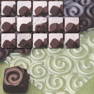 Transparante Chocolade Motief Relief Sheets - Set van 13