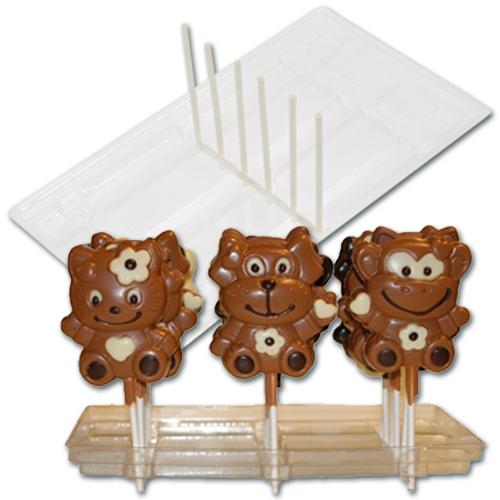 Plastic Display voor 18 Chocolade Lolly's - 5 stuks
