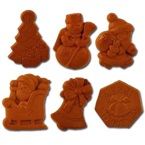 item # 611005 - Plastic Mal voor 6 Kerst Figuren - 43mm