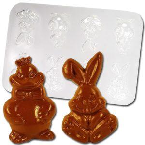 item # 611022 - Plastic Mallen voor 2 Paas Figuren