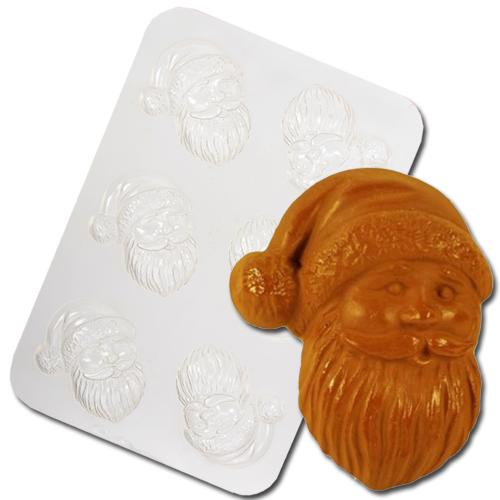 Plastic Chocolade Mal: Kerstman