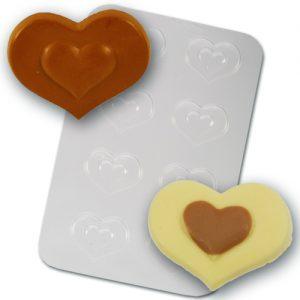 Plastic Chocolade Mal: Hartjes