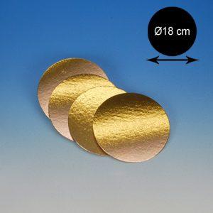 item #540052 - Goudkartons Rond Ø 18cm - 10st.