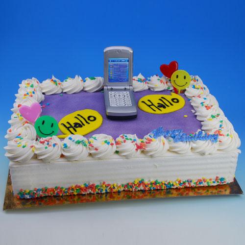 Mobiele Telefoon - Taart Decoratie Set