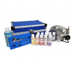 Airbrush Systeem met pistool Compleet in Koffer (Airbrush met 4cc cup)