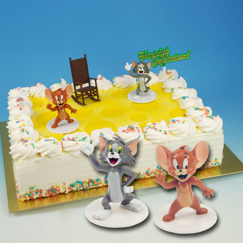 Tom en Jerry - Taart Decoratie Set