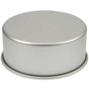 Bakvorm Rond - Ø 8 inch x h 3 inch - Geanodiseerd Aluminium -0