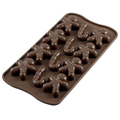 "Siliconen Chocoladevorm ""Mr Ginger"""