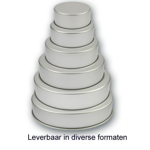 Bakvorm Rond - Aluminium - 4 inch hoog