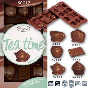 Siliconen Chocoladevorm: Tea Time