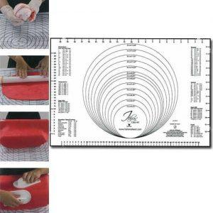 Plastic Uitrolmat met Maatvoering - 60x40 cm