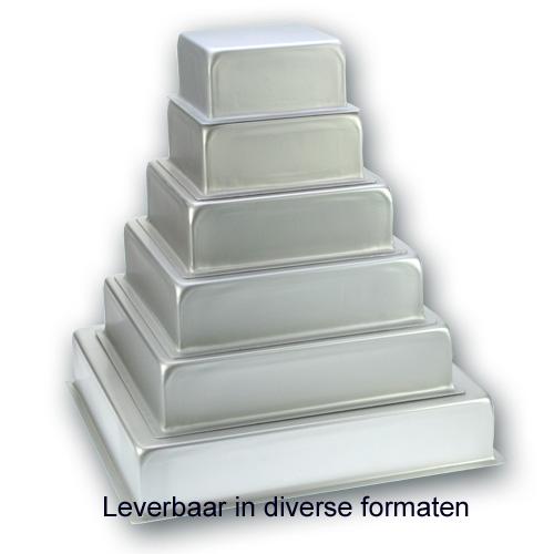 Bakvorm Vierkant - Aluminium - 4 inch hoog