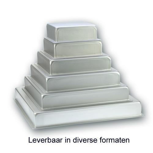 Bakvorm Vierkant - Aluminium - 3 inch hoog