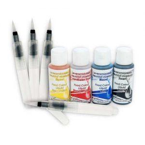 Aquarel Penselen Set (4 penselen met 4 kleuren)